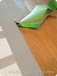 How Do You Polyurethane Hardwood Floors - how to paint a floor and what not to do all things thrifty