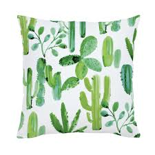 green painted cactus throw pillow carousel designs