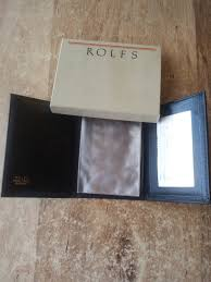 mens wallet leather trifold rolfs royal crest mustang slim never used