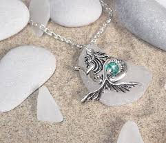 glass jewelry necklace images Mermaid necklace sea glass jewelry by sea glass secrets jpg