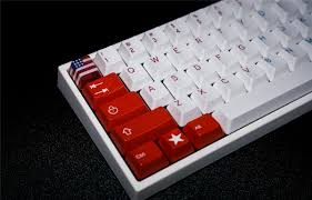 American Flag Keyboard Stickers American Flag Appearance R4 Oem Height Esc Key Caps For Cherry Mx