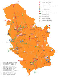 Serbia World Map by Map Of Serbian Electricity Grid Serbia National Energy Grids