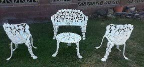 White Cast Iron Patio Furniture Cast Iron Patio Tables Foter