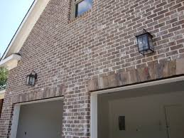 Outside Garage Lighting Ideas by Home Building Project Cedar Columns Lighting And Stained Stairs