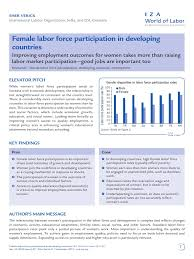 female labor force participation in developing countries pdf