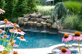 pool waterfall ideas nj transform your backyard