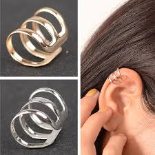non metal earrings es131 new style of ancient complex hollow u shaped clip earrings