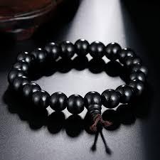black prayer bracelet images Black wood beaded prayer bracelets bangles buddhist buddha jpg