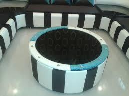 A Designer Center Table Custom Made By Interior Designer To Match - Sofa design center