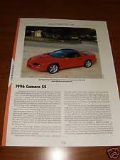 1996 camaro ss specs 1996 camaro ss ebay