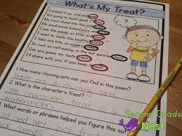 second grade nest using poems and text to convey meaning