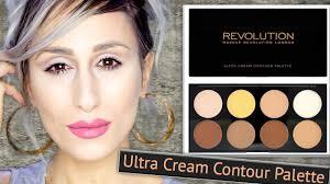 new 8 makeup revolution ultra cream contour palette review