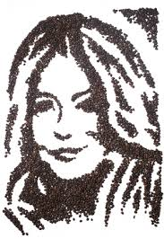 Sienna Miller recreated with coffee beans. Sienna Miller - fun-coffee-beans-sienna-miller