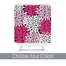 Pink Black And White Shower Curtain Best Dahlia Shower Curtain Products On Wanelo
