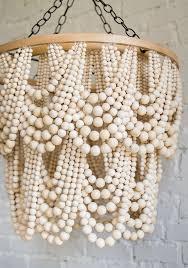 bead chandelier diy bead chandelier the house that lars built