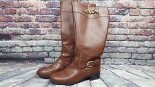 s boots size 11 wide calf deliee cognac wide calf shaft boots size