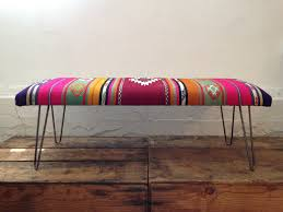 kilim bench large upholstered bench fabric covered and bench