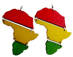 reggae earrings africa rasta earrings reggae earrings jamaican earrings africa map e