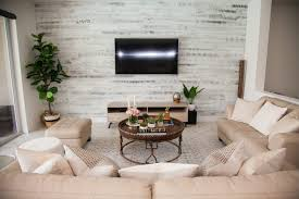 chic living room ideas modern rustic chic living room stikwood accent wall sunflowers