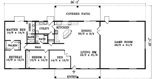 4 bedroom one story house plans santa fe house plan 4 bedrooms 2 bath 2048 sq ft plan 41 703