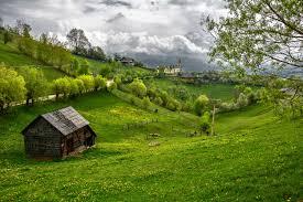 Landscape House Transylvanian Landscape Wallpaper