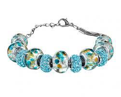 bracelet murano glass images Murano glass bracelet teal jpg