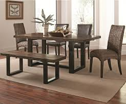 westbrook dining table 121641 coaster w optional wooven chairs