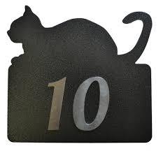 plaque numero rue numéro rue chat girouette fr