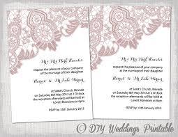 wedding invitation templates word wedding invitation template antique lace diy
