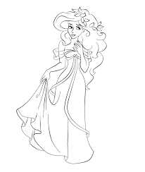 cartoon printable all princess coloring pages coloring tone