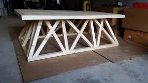 Restoration Hardware Coffee Table Remodelaholic 70 Restoration Hardware Inspired Trestle Door