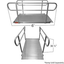 Wheelchair Ramp Handrails Titan 6 U0027 Wheelchair Entry Ramp Handrails Only