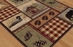 amazon com universal rugs homespun cabin novelty lodge pattern