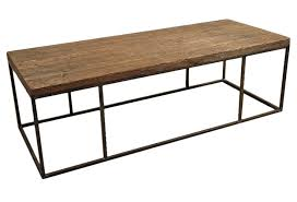wood plank coffee table wood plank coffee table with steel frame omero home