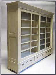 Bookcases With Sliding Glass Doors White Bookcase With Sliding Doors Bookcase Home Decorating