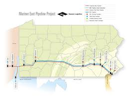 Road Map Of Pennsylvania by Sunoco Logistics Mariner East Pennsylvania Pipeline Project