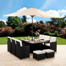 Aldi Rattan Garden Furniture 2017 Rattan Effect Seater Garden Patio Furniture Set Black Plans For