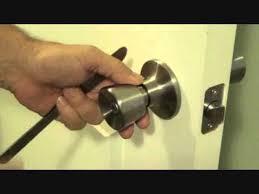 bedroom door lock with key how to unlock a bedroom door without a key youtube