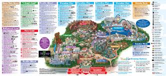 Orlando Parks Map by Disneyland Park Maps