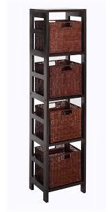 large storage shelves storage shelf with baskets walmart langria 5 tier wire shelving