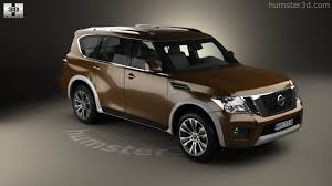 nissan armada 2017 black 360 view of nissan armada 2017 3d model hum3d store