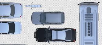 2d cars vehicules furniture floorplan top view psd 3d model 3d model