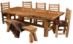 rustic log dining room tables northern cedar log dining table real wood high quality western lodge