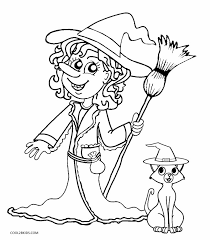 printable witch coloring pages kids cool2bkids