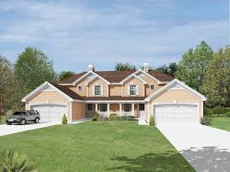 traditional country house plans hickory manor duplex home plan 007d 0190 house plans and more