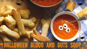 halloween recipe blood and guts soup with eyeballs and bones uk