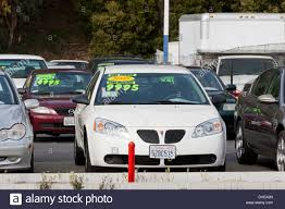 california used for sale cars on a used car sales lot california usa stock photo royalty