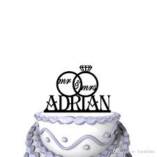 Funny Wedding Cake Toppers Personalized Funny Wedding Cake Toppers Script Mr U0026 Mrs Rings