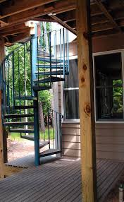 outdoor spiral deck stairs the above photo is of a spiral