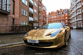 ferrari gold video chrome gold ferrari 458 spotted in london gtspirit